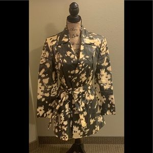 A Line Anne Klein yellow & Black  Print Coat